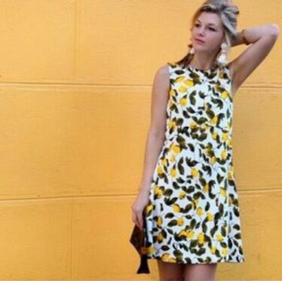25586fa4 Zara Basic Lemon Print Shift Dress Sz XS. M_5ad4313dc9fcdfd170cf3f70